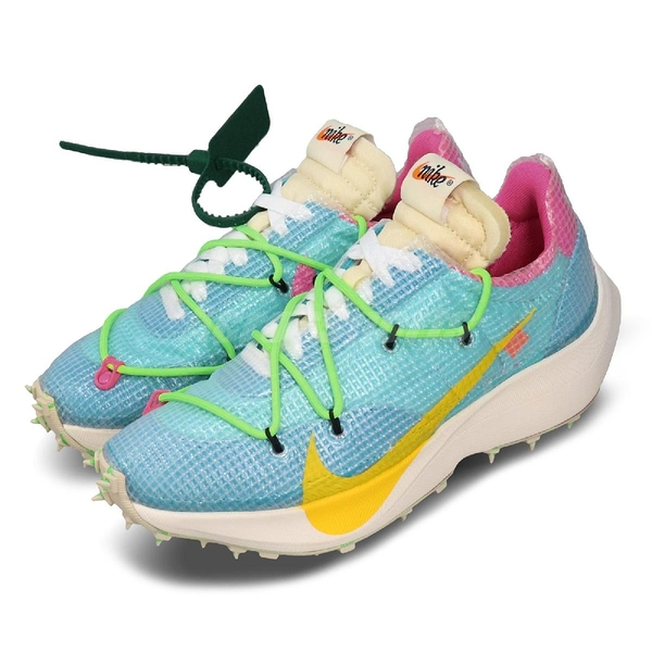 Nike x Off-White Vapor Street Athlete in Progress 藍 黃 女鞋 聯名 鞋釘 【PUMP306】 CD8178-400