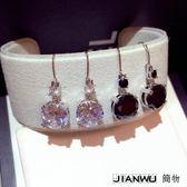 韓版歐美時尚閃鑽大鋯石耳環女百搭