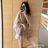 泳衣女2021新款三件套罩衫比基尼性感保守遮肚顯瘦仙女范溫泉泳裝