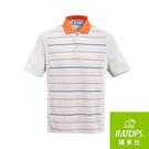 【RATOPS】男 Coolmax條紋短袖POLO衫 /剪接『卡其色底/粉桔領』DB-8803 排汗衣 吸濕.排汗.透氣