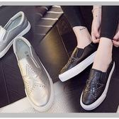 一腳蹬情侶休閒鞋厚底松糕鞋男鞋女鞋...銀色...流行線