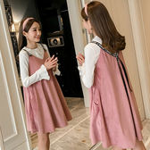孕婦春裝套裝時尚款2018新款打底衫上衣長袖 金絲絨吊帶   八折免運 最後一天