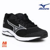 【Mizuno美津濃】大童 兒童款馬拉松鞋 WAVE RIDER 22 Jr -黑色(K1GC183361)【全方位運動戶外館】