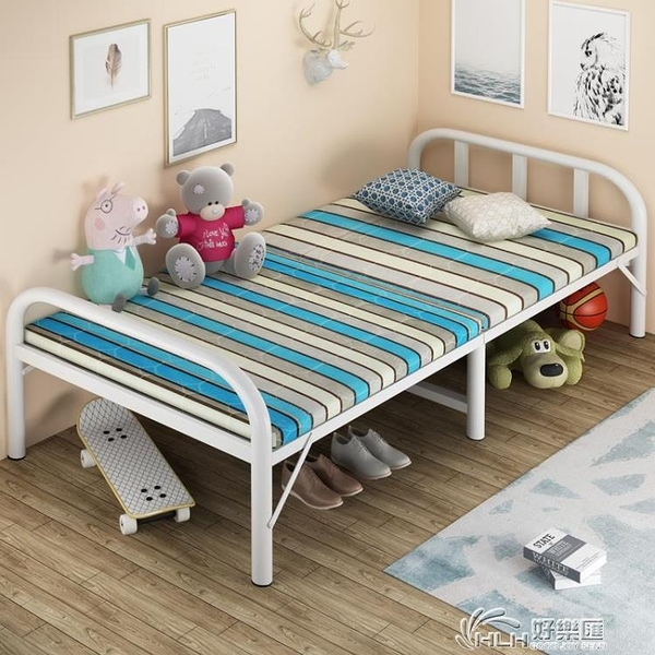 摺疊床單人午休辦公室午睡簡易便攜家用陪護床成人出租屋木板鐵床好樂匯