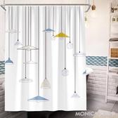 北歐風簡約浴室簾子防水掛簾衛生間加厚防黴不透明洗澡浴簾 莫妮卡小屋