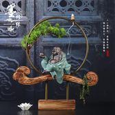 中式創意家居室內客廳玄關裝飾禪意佛像如意陶瓷工藝品辦公桌擺件 東京衣櫃