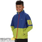 【REGATTA 英國 兒童 海卓特Ⅱ超反光防水二件式外套《藍/綠》】RKP174/防水/透氣/防風