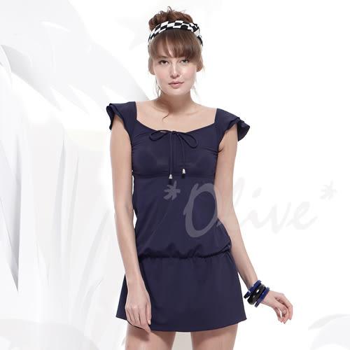 ☆小薇的店☆MIT聖手品牌胸前抓皺款式時尚二件式連身裙泳裝特價990元 NO.A92431-02(M/L)