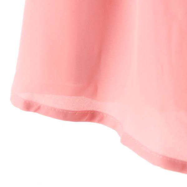 【MASTINA】雪紡拼接上衣-粉 好康限時