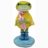《齊洛瓦鄉村風雜貨》日本雜貨zakka copeau 青蛙小公仔擺飾 穿雨衣青蛙裝飾 雨中的蛙蛙