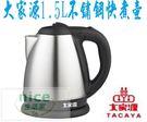 【大家源】1.5L (304)不鏽鋼快煮壺TCY-2715