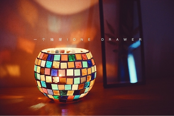 蠟燭材料包「一個抽屜 / One Drawer」摩洛哥風情馬賽克燭臺蠟燭diy材料包-快速出貨