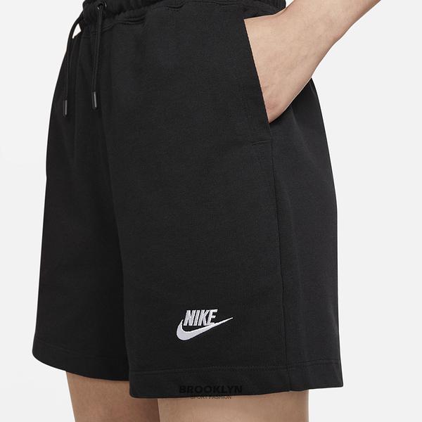 NIKE 運動褲 短褲 NSW JSY HR SHORT 黑色 短棉褲 女(布魯克林) CJ3755-011