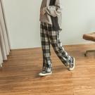 Queen Shop【04030284】經典格紋毛呢長褲*現+預*