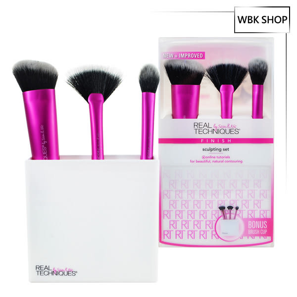 Real Techniques 修容彩妝刷具組3件組+刷具底座 Sculpting Brush Set - WBK SHOP
