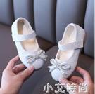 女童皮鞋2021年春季新款寶寶亮片蝴蝶結公主鞋時尚百搭軟底豆豆鞋 小艾新品