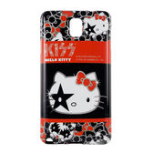 【KISS HELLO KITTY 】Samsung Galaxy Note3 時尚彩繪保護套-華麗繽紛