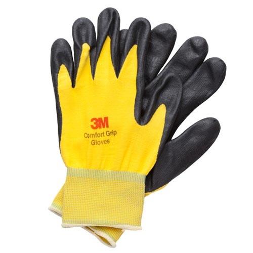 3M 亮彩舒適型 止滑 耐磨手套 黃色 XL
