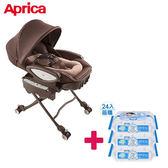 【送貝恩嬰兒柔濕巾一箱】 愛普力卡 Aprica YuraLism Premium Plus 電動餐搖椅-天鵝堡