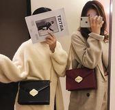 側背包小包包女韓版時尚鎖扣小方包百搭鍊條包  【熱賣新品】