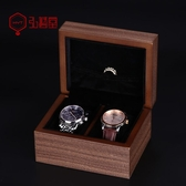弘藝堂便攜式手表盒收納盒單個實木質家用簡約創意機械表收藏木盒 麻吉好貨