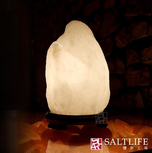【鹽夢工場】原礦系列-白鹽燈(2-4kg|特製底座)