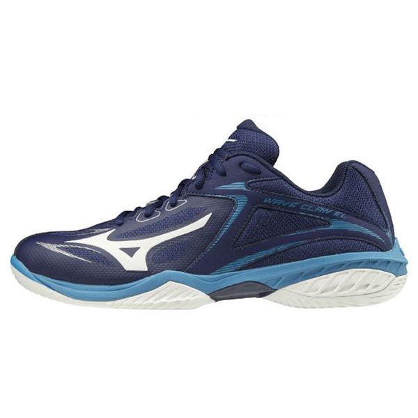 MIZUNO 20SS 羽球鞋 WAVE CLAW EL系列 71GA208027 藍 贈運動襪【樂買網】