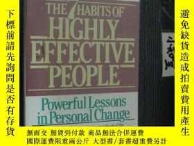 二手書博民逛書店英文原版罕見THE 7 HABITS OF HIGHLY EFF