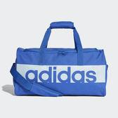 adidas LIN PER TB  藍色運動袋手提袋旅行袋行李袋側背包 大LOGO 訓練健身袋 CF3449
