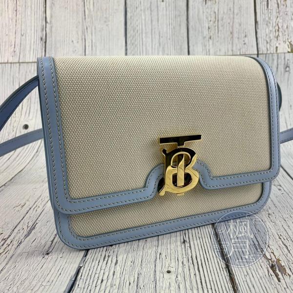 BURBERRY 帆布拼接側背包
