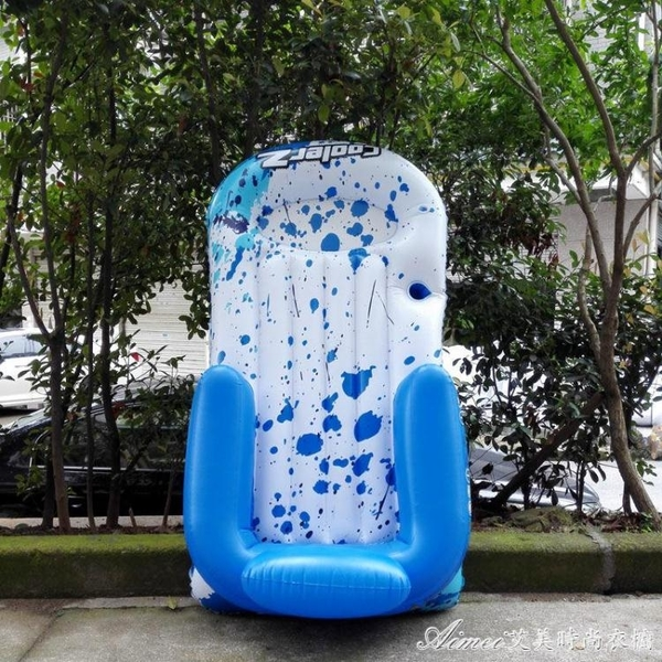 單人水上躺椅充氣浮排游泳浮板 游泳圈 浮床成人游泳 快速出貨