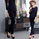*衣衣夫人OL服飾店*【MY568】超彈鑽扣口袋窄管素面長褲(黑) M-3L