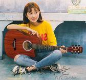 霏爾麗38寸初學者民謠木吉他學生練習青少年入門男女練習新手通用