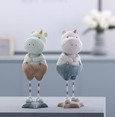 擺件 創意可愛樹脂動物小家居酒柜電視柜房間裝飾品擺設生日禮物 - 古梵希