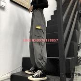 工裝褲子女韓版寬鬆高腰顯瘦大碼休閒束腳闊腿直筒工裝褲【時尚大衣櫥】