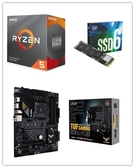 (C+M+S)AMD R5 3600【6核/12緒】+ 華碩 TUF GAMING B550-PLUS + Intel 660P 1TB M.2 SSD