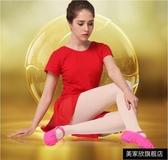 舞鞋兒童舞蹈鞋軟底練功幼兒男女童形女體民族跳舞貓爪紅色中國芭蕾舞 快速出貨