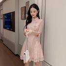 VK精品服飾 中國風蕾絲復古文藝盤扣中袖...
