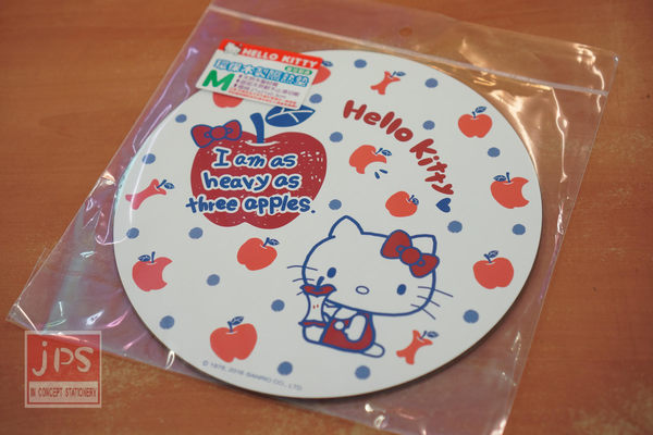 Hello Kitty 環保木製隔熱墊 (小) 蘋果白