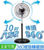 免運費★台灣製造 G.MUST 10吋 新型360度擺頭桌立扇 (GM-1036) 桌扇 電風扇 涼風扇