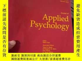二手書博民逛書店Journal罕見of Applied Psychology,V