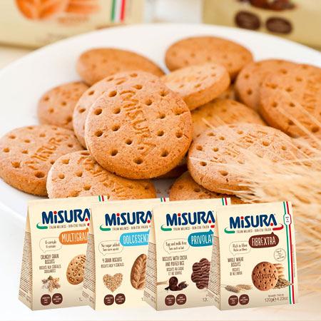 義大利 MISURA 餅乾 120g 六種穀餅乾 小花巧克力餅乾 全麥餅乾 優穀麥片餅乾 零食