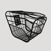電動自行車車籃子前車筐電瓶車車筐加粗帶蓋車簍菜籃子電動車車籃igo   蜜拉貝爾
