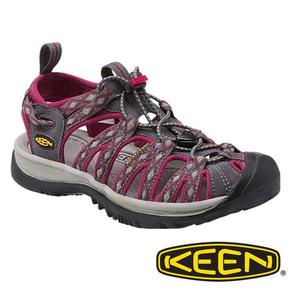 Keen Whisper 女 輕量護趾水陸兩用鞋 紫紅/印花 1014204