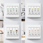家用標識標示標簽指示貼字墻壁插座