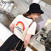 中大尺碼 彩虹棉T恤上衣 - 適XL~4L《 68095HH 》CC-GIRL
