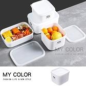 密封盒 保鮮盒 收納盒 塑料盒 C款 便當盒 食品收納盒 可疊 印花款 微波保鮮盒【Q025】MY COLOR