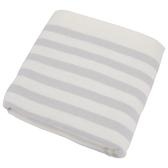純棉紗布大浴巾 BORDER LGY 68×140 NITORI宜得利家居