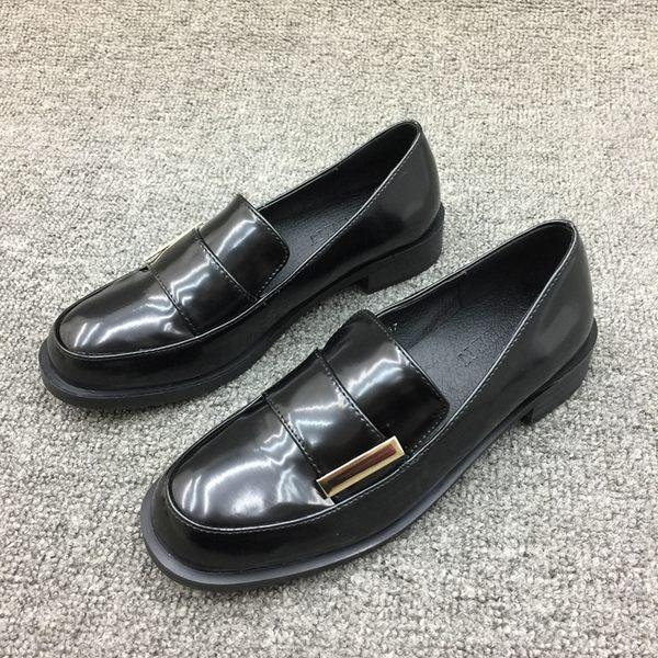 樂福鞋女鞋英倫風單鞋牛津鞋復古小皮鞋平底 都市韓衣