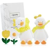 OPretty 歐沛媞 車用香氛擴香石擺飾-元氣加油鴨禮盒(黃色)